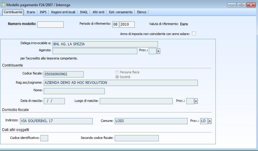 Contabilit il modello di pagamento f24 gierreti for Pagamento canone rai con f24